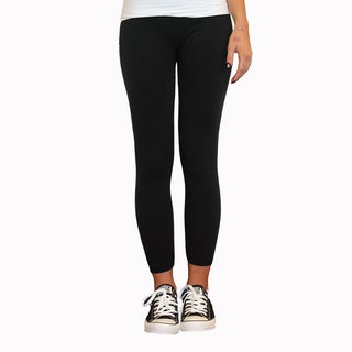Just One Girl's Black French Terry Leggings