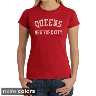 Los Angeles Pop Art Women's 'Queens Neighborhoods' T-shirt