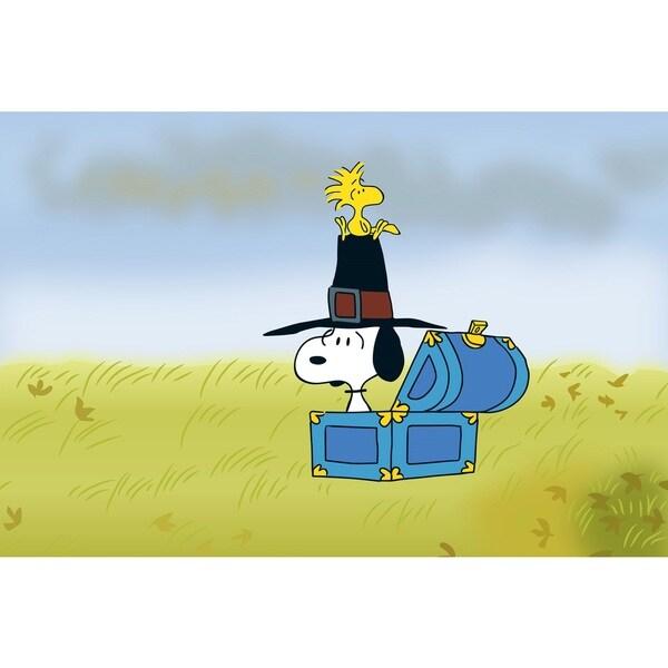 Charles M. Schulz 'Pilgrim Snoopy' Canvas Art