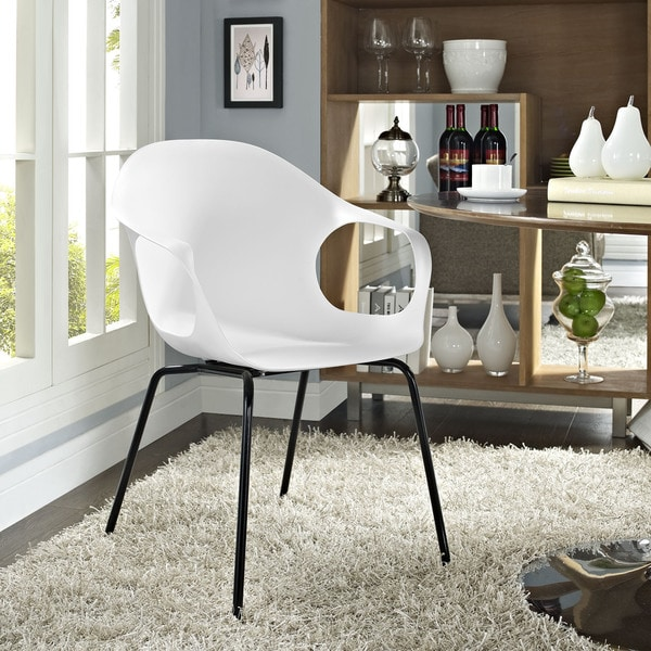 Swerve White Dining Armchair
