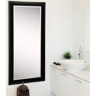 American Made Rayne Grand Black with Aged Silver Liner Floor Mirror