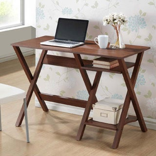 Baxton Studio Crossroads Sonoma Oak Finishing Modern Writing Desk