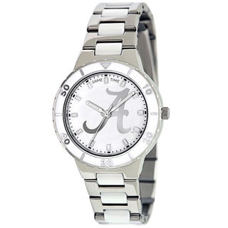 Game Time Women's Alabama Crimson Tide Logo Pearl Watch