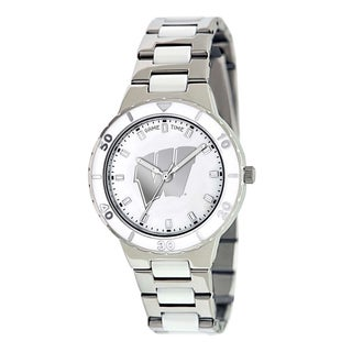 Game Time Women's Wisconsin Badgers Logo Pearl Watch