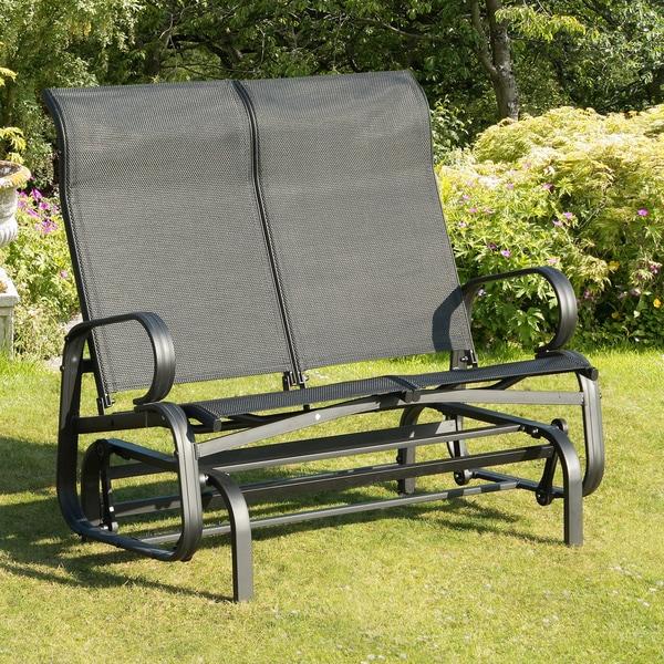 Havana Black Twin Seat Outdoor Glider