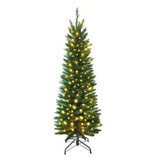 7-foot Pre-lit Pencil Pine