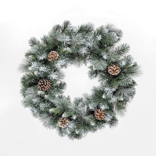23.6-inch Frosted Glacier Wreath