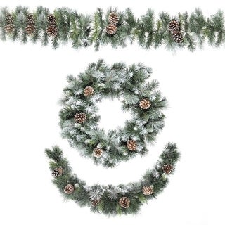 106-inch x 9.8-inch Frosted Glacier Garland
