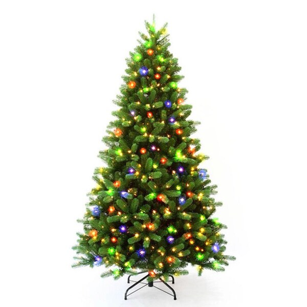 7.5-foot Pre-lit Multi-colored Rocky Mountain Christmas Tree