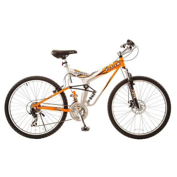 Titan Fusion-Pro Alloy Dual-Suspension All-Terrain Unisex 21-speed Mountain Bike with Disc Brakes