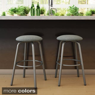 Amisco Log Swivel Metal Counter Stool