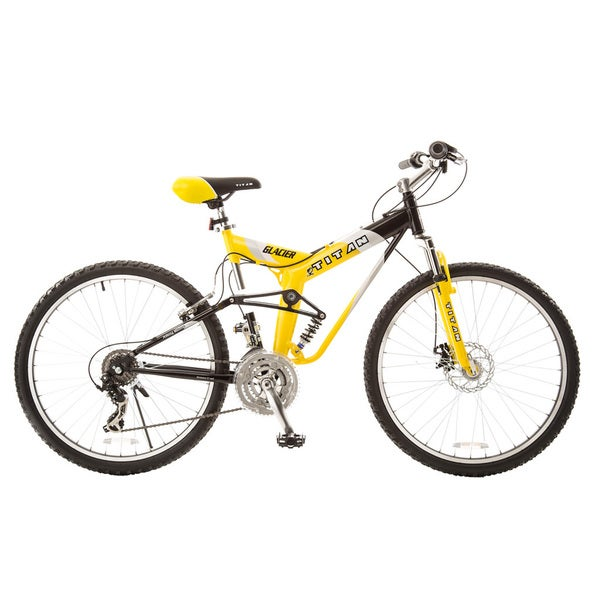 Titan Glacier-Pro Alloy Dual-Suspension All-Terrain Unisex Mountain Bike with Disc Brakes
