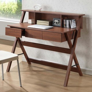 Baxton Studio Freen Sonoma Oak Finishing Modern Writing Desk