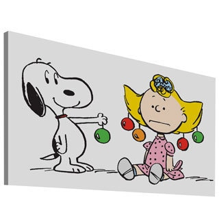 Charles M. Schulz 'Snoopy Sally Ornaments' Canvas Art