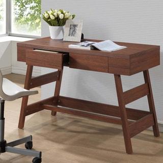 Baxton Studio Trapezoid Sonoma Oak Finishing Modern Writing Desk
