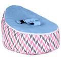Totlings Snugglish Cream Retro Blue Velvet Top Baby Lounger