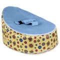 Totlings Snugglish Gold Blossoms Blue Velvet Top Baby Lounger