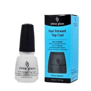 China Glaze Fast Forward Top Coat 0.5-ounce Nail Polish Treatment