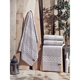 Enchante Carrol Turkish Cotton Bath Towel (Set of 2)