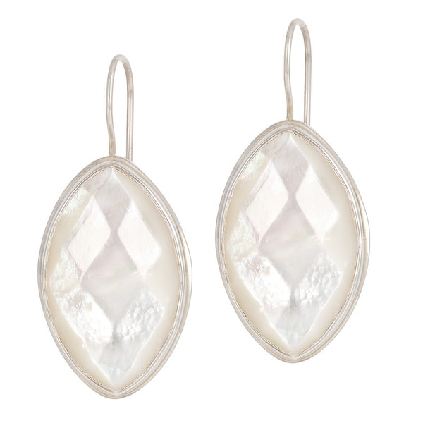 Mother of Pearl in Sterling Silver Wire Earring