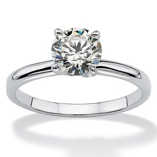 PalmBeach Sterling Silver Cubic Zirconia Engagement Ring Classic CZ