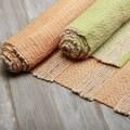 Hand-braided Flatweave Stripe Wool/ Jute Rug (5' x 8')