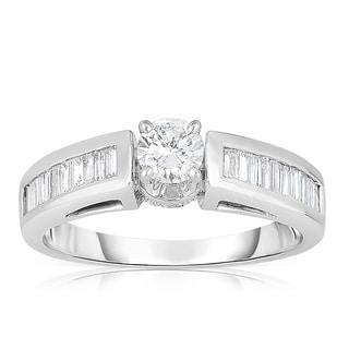 Eloquence 14k White Gold 3/4ct TDW Brilliant Diamond Engagement Ring (J-K, I1-I2)