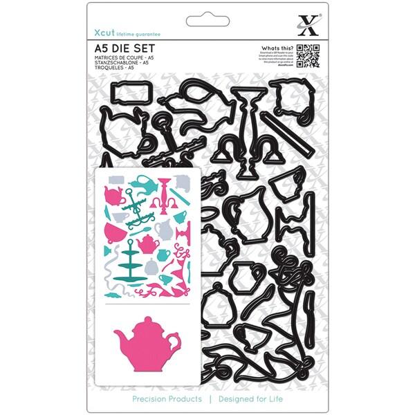 Xcut A5 Die Set-Tea Party