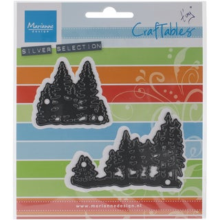 """Marianne Design Craftables Dies-Tiny's Pine Trees, Up To 3""""X1.875"""""""