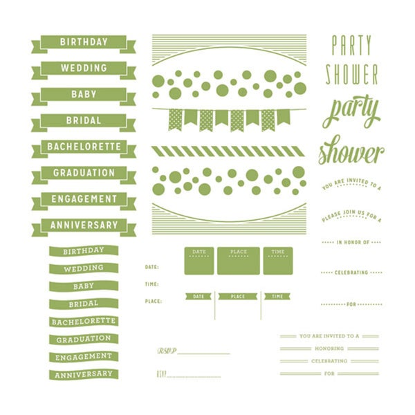 Lifestyle Letterpress Plates-Whimsy Invite