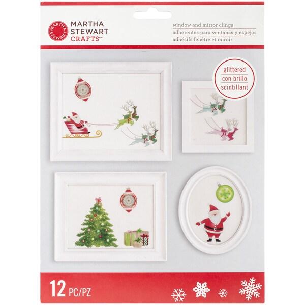 Merry & Bright Window Cling-Santa