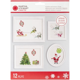 Merry & Bright Window Cling-Santa