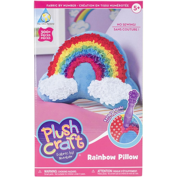 PlushCraft (R) Rainbow Pillow Kit-Rainbow Pillow