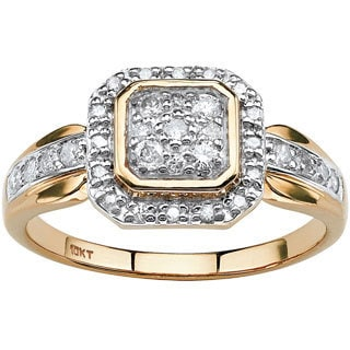 PalmBeach 10k Yellow Gold 3/8ct TCW Diamond Ring (H-I, I2-I3)