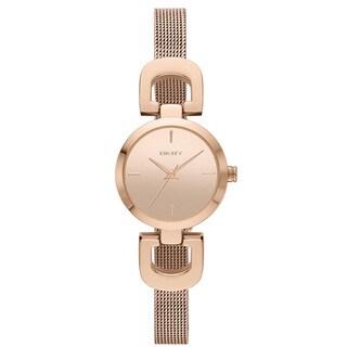 DKNY Women's NY2102 Rose Goldtone D-Link Mesh Bracelet Watch