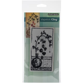 "Penny Black Cling Rubber Stamp 5""X7.5"" Sheet-Adorned W/Love"