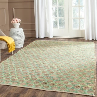 Safavieh Hand-Woven Cape Cod Teal/ Natural Jute Rug (5' x 8')