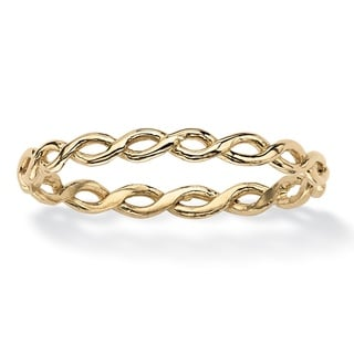 PalmBeach Braided Twist Ring in 10k Gold Tailored