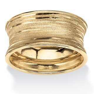 PalmBeach Concave Banded Ring in 10k Gold Tailored