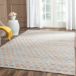 Safavieh Hand-Woven Cape Cod Blue/ Natural Jute Rug (5' x 8')