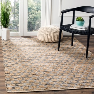 Safavieh Hand-Woven Cape Cod Black/ Natural Jute Rug (8' x 10')
