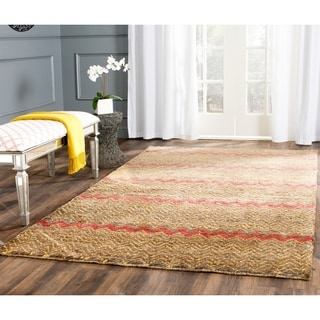Safavieh Hand-knotted Bohemian Brown/ Gold Jute Rug (8' x 10')