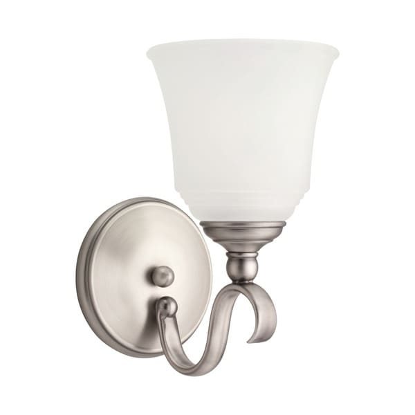 Single Light Off-white Wall Sconce