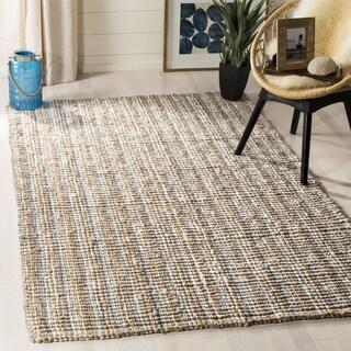 Safavieh Hand-Woven Natural Fiber Grey/ Natural Jute Rug (6' Square)