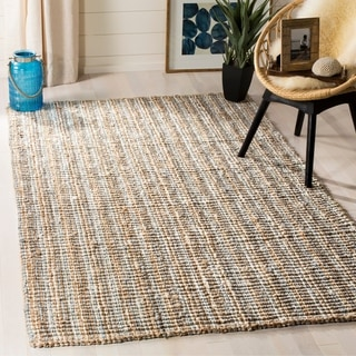 Safavieh Hand-Woven Natural Fiber Grey/ Natural Thick Jute Rug (8' x 10')