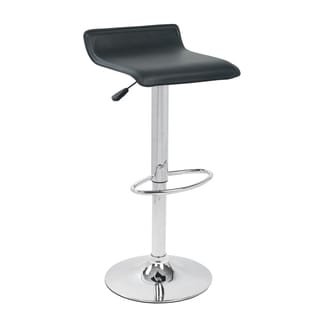 Black Adjustable Height Hydraulic Swivel Bar Stool