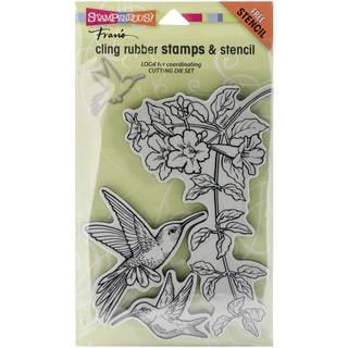 "Stampendous Cling Rubber Stamp 5""X9""-Hummingbirds"