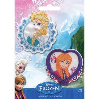 Disney Frozen Iron-On Appliques 2/Pkg-Elsa & Anna