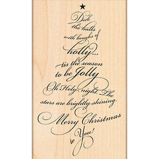 "Penny Black Mounted Rubber Stamp 3""X5""-Caroling Tree"
