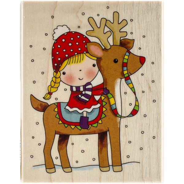 "Penny Black Mounted Rubber Stamp 3.25""X4""-Reindeer Games"